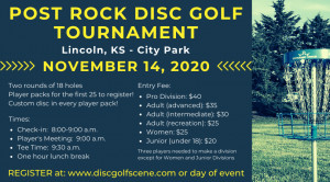 Post Rock Disc Golf Tournament graphic