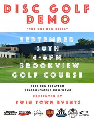 Disc Golf Demo Night @ Brookview graphic