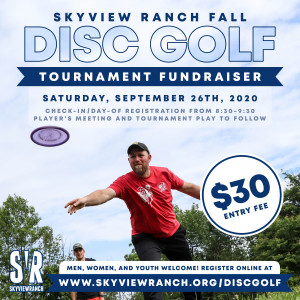 2020 Skyview Ranch Fall Tournament Fundraiser graphic