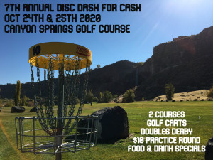 7th Annual Disc Dash for Ca$h graphic