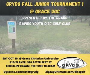 GRYDG Fall Junior Tournament 1 @ Grace DGC graphic