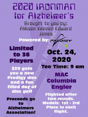 2020 IRONMAN For Alzheimer's brought to you by Allison Kennon Edward Jones, Powered by: Prodigy graphic