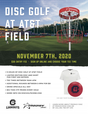 Disc Golf Day with the Lookouts (AT&T Field) graphic