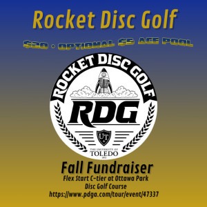 Rocket Disc Golf Fall Fundraiser graphic
