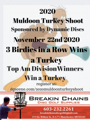 2020 Muldoon Turkey Shoot Sponsored by Dynamic Discs graphic