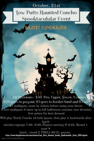 Low Putts Haunted Concho Spooktaculular Event graphic
