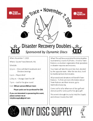 Disaster Recovery Doubles at Coyote Trace graphic