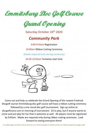 Emmitsburg Grand Opening Tournament graphic
