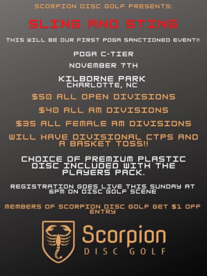 Scorpion Disc Golf Presents: Sling and Sting at Kilborne District Park graphic