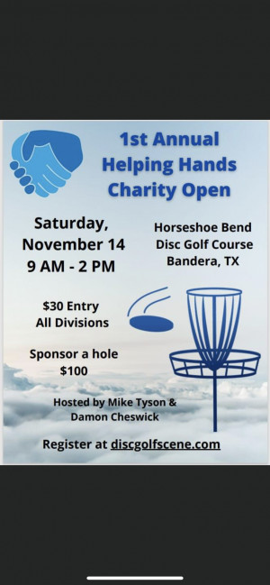 1st Annual Helping Hands Charity Open graphic