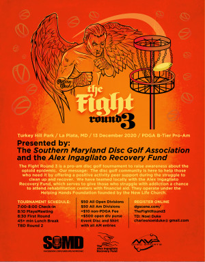 The Fight Round 3 Presented by the Southern Maryland Disc Golf Association and the Alex Ingagliato Recovery Fund graphic