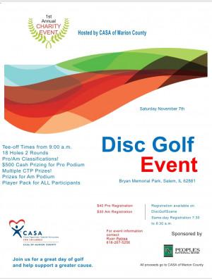 CASA Disc Golf Tournament graphic