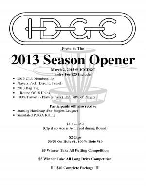 IDGC 2013 Season Opener graphic