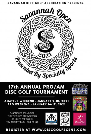 17th Annual Savannah Open (PRO Weekend) graphic