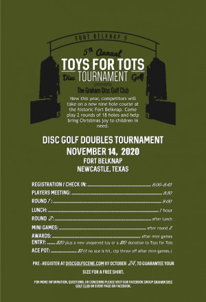 5th Annual Toys For Tots Doubles Tournament graphic