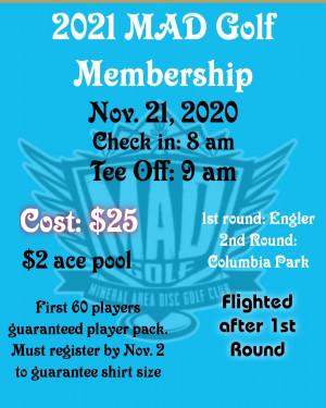 2021 MAD Golf Membership graphic