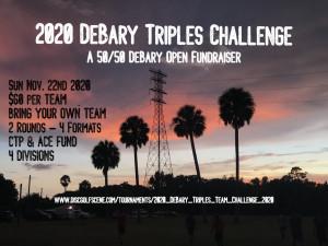 2020 DeBary Triples Team Challenge graphic