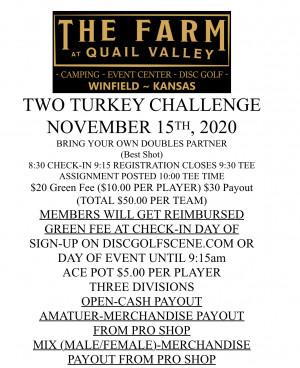 Two Turkey Challenge graphic