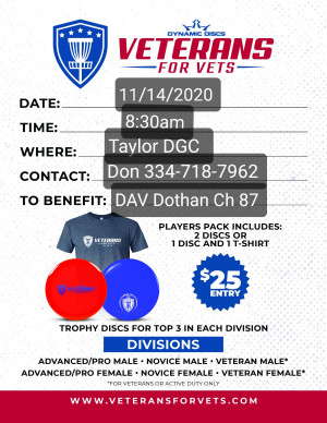 Veterans for Vets benefiting Disabled American Veterans Dothan Chapter 87 graphic