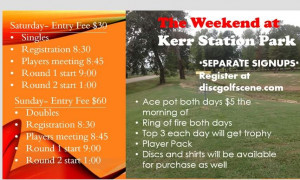 Weekend at Kerr Station (doubles) graphic