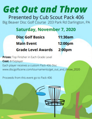Get Out and Throw presented by Cub Scout Pack 406 graphic