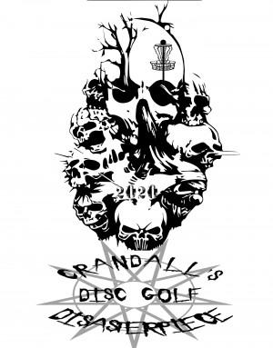 CRANDALLS DISC GOLF DISASTERPIECE graphic