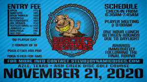 Roscoe's Revenge Presented by Dynamic Discs graphic