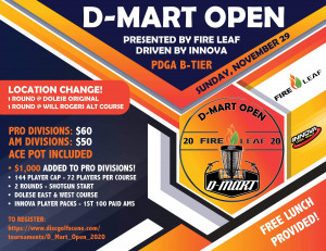 D-Mart Open, Presented By Fire Leaf, Driven By Innova graphic