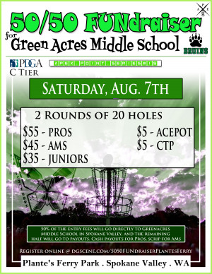 50/50 FUNdraiser for Greenacres Middle School graphic