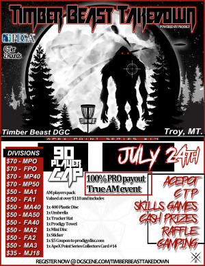 Timberbeast Takedown powered by Prodigy graphic