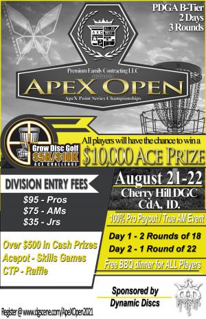 Apex Open - APS Championships (Dynamic Discs sponsored GDG $5K/$10K event) graphic