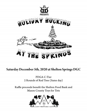 Holiday Hucking at the Springs Presented by Dynamic Discs graphic