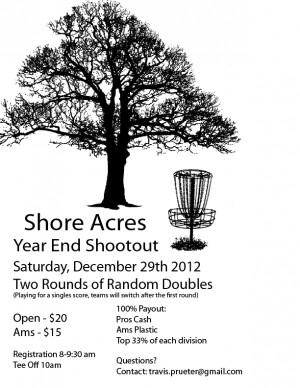 Shore Acres Year End Shootout graphic