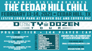 Dynamic Discs Presents The Cedar Hill Chill graphic