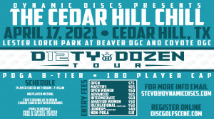 Dynamic Discs Presents The Cedar Hill Chill graphic