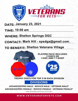 SPSDGA Veterans for Vets Benefiting the Shelton Veterans Village graphic