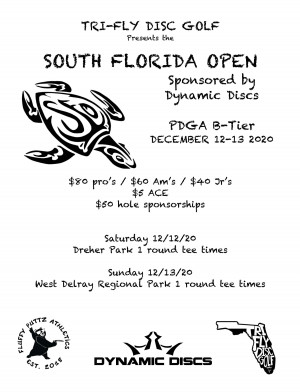 The South Florida Open presented by Tri-Fly Disc Golf graphic