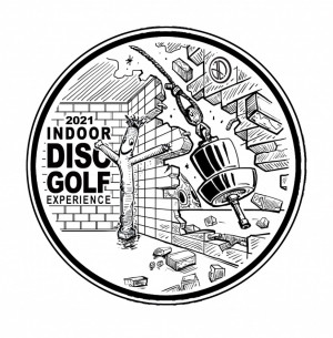 INDOOR DISC GOLF EXPERIENCE - Ace Race - Dubuque Iowa - Five Flags - Driven by Innova - Meet Philo graphic