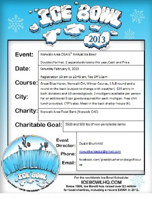 NADGA's 6th annual Ice Bowl graphic