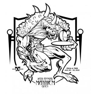 16th Annual Mayhem Open A Tier driven by Innova Discs graphic