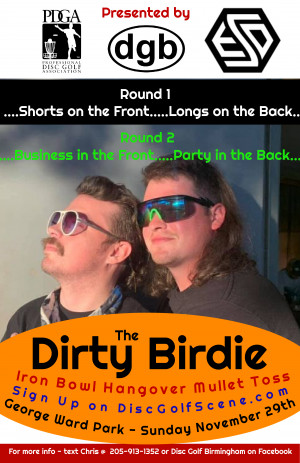 The Dirty Birdie presented by ESD and DGB graphic