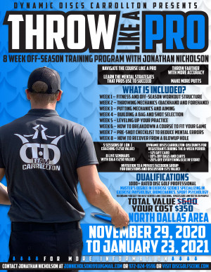 Throw Like a Pro Presented by Dynamic Discs Carrollton graphic