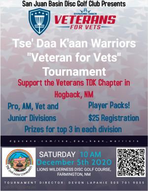"""Tse' Daa K'aan Warriors """"Veteran for Vets"""" Tournament graphic"""