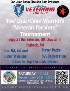"""Tse' Daa K'aan Warriors """"Veterans for Vets"""" Tournament graphic"""