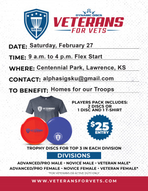 Veterans for Vets presented by Alpha Sigma Phi KU graphic