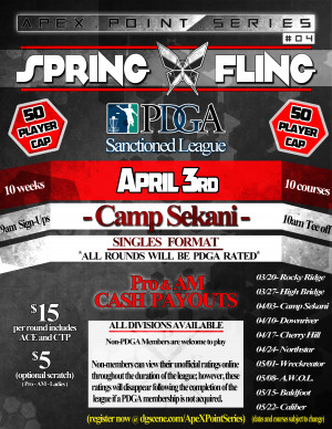Spring Fling- Camp Sekani . ApeX Point Series #4 graphic