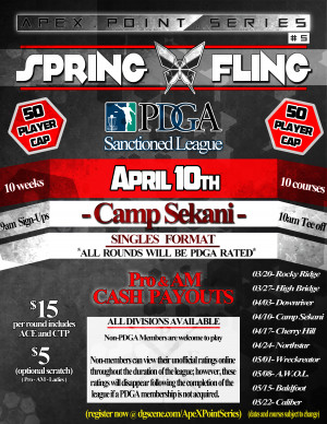 Spring Fling- Camp Sekani . ApeX Point Series #5 graphic