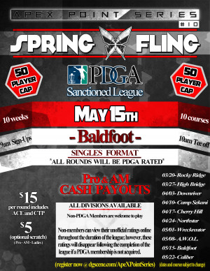 Spring Fling- Baldfoot . ApeX Point Series #10 graphic