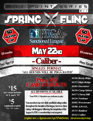 Spring Fling- Caliber . ApeX Point Series #11 graphic