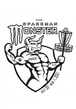 Sparkman Monster sponsored by Coca-cola bottling graphic
